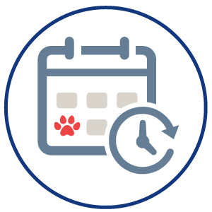 calendar icon, mobile veterinary clinic, vet clinic, house calls, vet house calls, pet house calls, Stover Veterinary Services, Tiffin, Ohio